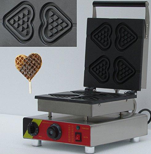 Hanchen Instrument® 4pcs Commercial Waffle Maker Electric Waffle Machine No-stick Belgian Waffle Baker 110v/220v