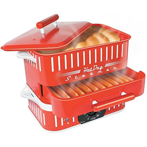 Cuizen CST-1412B Retro Hot Dog Steamer Red