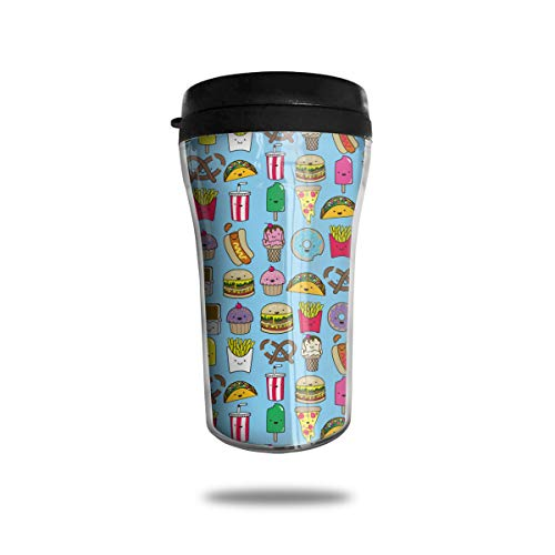 Popsicle Doughnut Cookies Taco Hot Dog Sausage Ice Coffee Small Coffee Cup Carrying Hand Cup Reusable Plastic Curve Travel Cup Coffee Cup Asymmetric Men Children Teen Adult