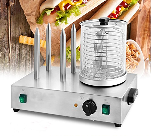 Techtongda 110V Hot Dog Warming Machine Hot Dog Roller and Bun Warmer