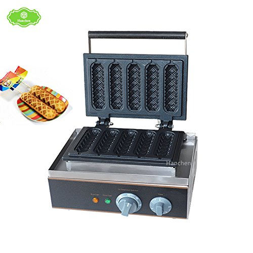 Hanchen Instrument FY-117 Commercial Use Electric Corn Dog Lolly French Hot Dog Muffin Waffle Maker Baker Iron Fryer 110V
