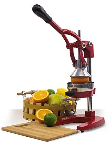 Home Cast Iron Manual Juicer – Juice Press Lemon Citrus Juicer – Hand Fruit Squeezer Orange Juicer Red
