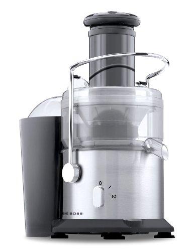 Big Boss 800-Watt Professional Series Juicer 2 Speed Wide Mouth Fruit Vegetable Juice Extractor-Stainless Steel