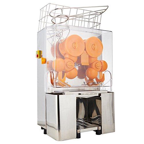 Superland Orange Juice Machine Commercial 120W Orange Juicer Auto Feed 22-30 Oranges per Minute Commercial Juicer Machine Stainless Steel Case 22-30 Oranges per Minute