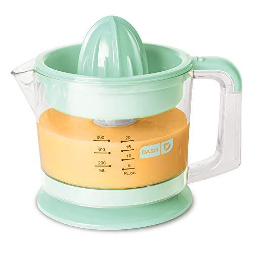 Dash Citrus Juicer Extractor Compact Juicer for Healthy Juice Oranges Lemons Limes Grapefruit other Citrus Fruit with Easy Pour Spout  32 oz Pitcher - Aqua