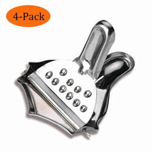 WHOSEE 4-Pack Stainless Steel Juicer Manuel Presses Fruit Orange Citrus Handheld Press