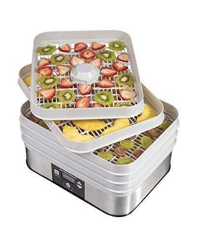 Hamilton Beach 32100A Digital Food Dehydrator 5 Tray Gray