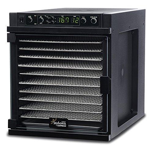 Tribest Sedona Express SDE-S6780-B Digital Food Dehydrator Black with Stainless Steel Trays