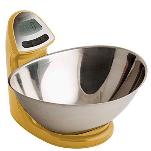 Typhoon Vision Stainless Steel Digital Food Kitchen Scale Mustard