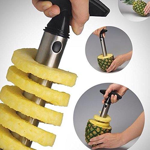 RuBiWo Stainless Steel Pineapple Corer Slicer peeler