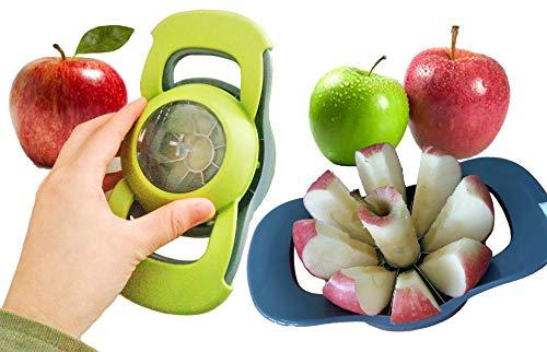 SailboatSou Apple slicer and corer - Apple corer 8 blade - Pear slicer - Pear core - Stainless steel apple slicer - Fruit peeler corer and slicer