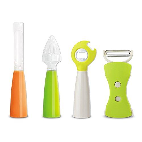 Fruit tools Gadgets Set Kitchen Tools Original Swiss Peeler Bottle Opener Apple Corer Orange Juicer 4-in-1 Cooking Utensils Kitchenware