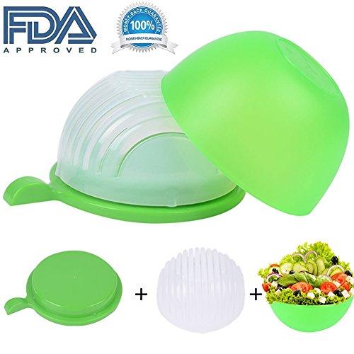 New Salad Cutter Bowl Vegetable Chopper Salad Maker Cutter for Lettuce Fruits Vegetables for Salad in 60 Seconds Healthy Food Maker By JAFIC