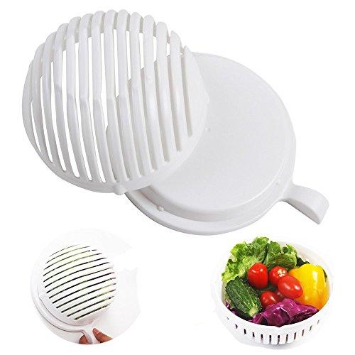 Salad Cutter BowlVegetable Cutter Bowl60 Second Fresh Salad Maker Cutter Bowl Slicer Vegetable Easy Washer Chopper