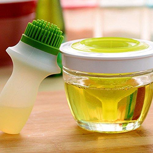3-in-1 Silicone Oil Bottle Brush Olive Oil Vinegar Salad Dressing Dispenser Bottle Baster Brush for BBQ