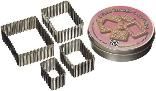 R M Rectangular 4 Piece CookieBiscuit Cutter Set
