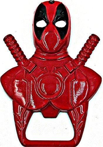 Marvel Deadpool Keychain Bottle Opener  Metal Deadpool Figure  Deadpool Symbol Beverage Beer Bottle Opener Keyring