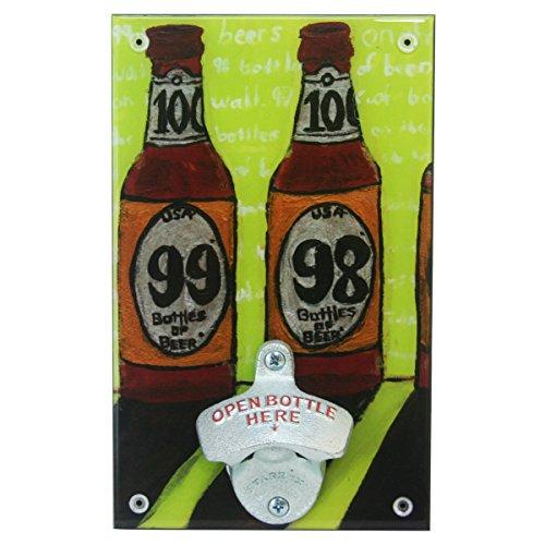Jubilee Celebrations Wall-Mounted Beer Bottle Opener - 99 98 Bottles of Beer