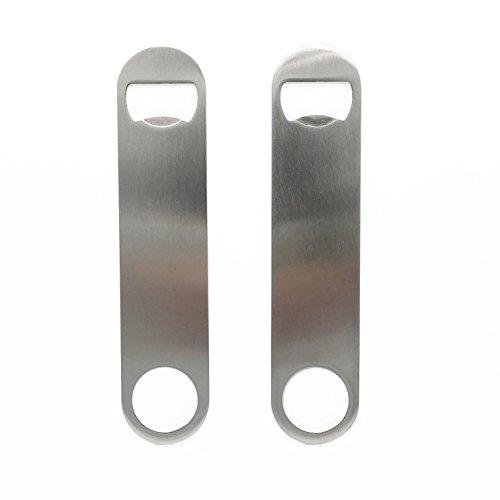 Heavy Duty Stainless Steel Flat Bottle Opener Set of 4