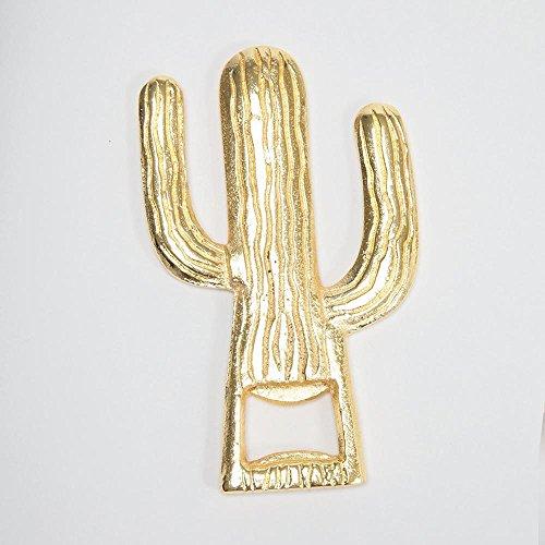 8 Oak Lane EN019CAC Cactus Metal Bottle Opener 55 Gold