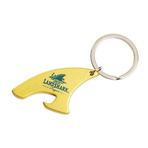 Landshark Shark Fin Metal Bottle Opener Keychain