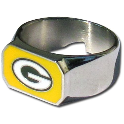 NFL Green Bay Packers Steel Bottle Opener Ring Size 12
