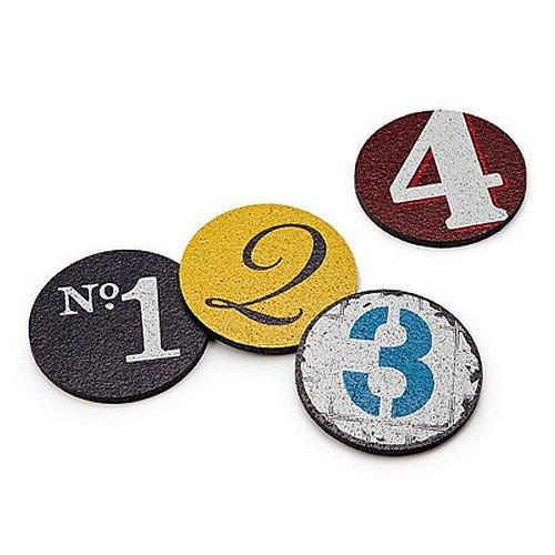 Flox 'numeros' Rubber Coasters
