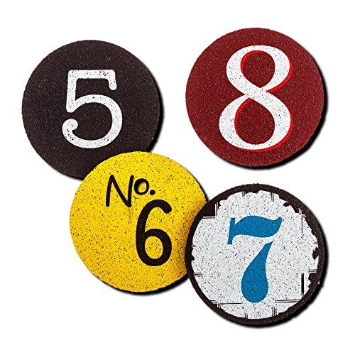 "Flox ""numeros: 5,6,7,8"" Rubber Coasters"