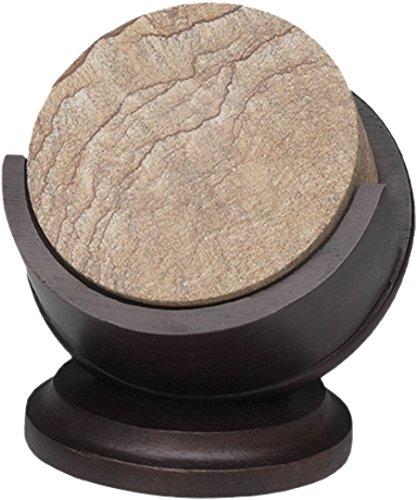 Pedestal Coaster Holder,dark Walnut