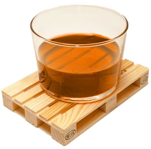 Set Of 4 Miniature Pallet Coasters By J&z Suitable For All Kinds Of Drinks; Hot And Cold.