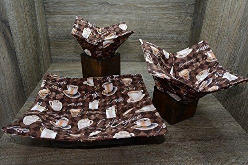 Microwave Bowl Cozies  Set of 3  1 Small Bowl Cozy  1 Medium Bowl Cozy  1 Dinner Plate Cozy  Morning Coffee