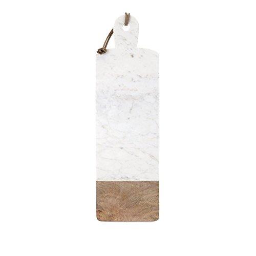 IMAX 82521 Danita Marble and Wood Cheese Board White