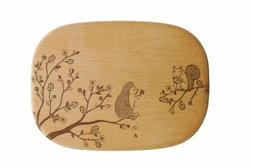 Talisman Designs Get Real Squirrel Solid Beechwood Cheese Board Woodland Design