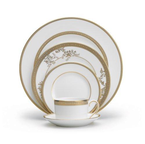 Vera Wang Wedgwood Vera Lace Gold 5-Piece Dinnerware Place Setting