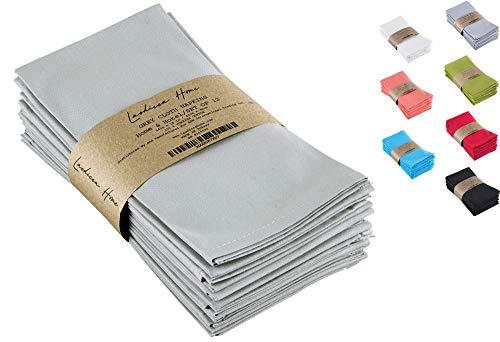 Laodicea Home - Cloth Napkins Set of 12 18 x 18 Inches - Grey Linen Napkins - 100 Turkish Cotton Napkins Soft and Comfortable Durable Linen Napkins - Reusable Dinner Napkin