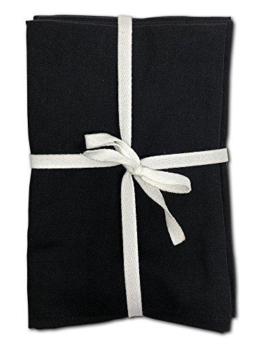 MoLi Cloth Napkins Egyptian Cotton Dinner Linen Set of 12 Pack Lunch Reusable Fabric Napkin Table Linens Servilletas de Tela Restaurant Tabel Linnen Bulk Sets Eco New Black