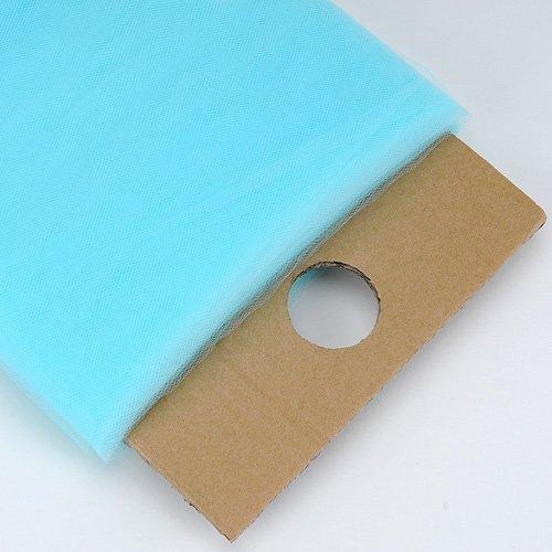 BBCrafts Aqua Blue Polyester Tulle Fabric Bolt 54 inch 40 Yards
