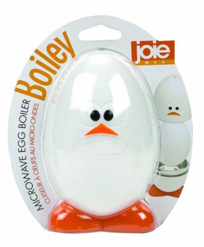 Joie Boiley White and Orange Microwave Egg Boiler
