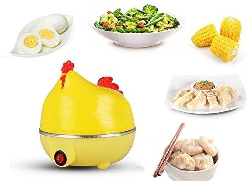 TUZECH Stylish Hen Shaped Egg Boiler Cum Steamer - Can be used For Vegetables EU PLUG