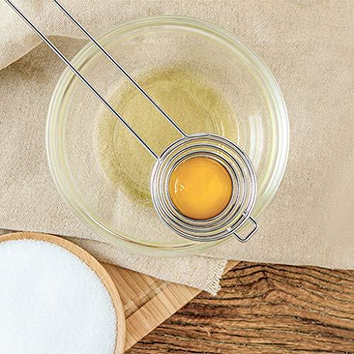 TopSelling  Kitchen Stainless Steel Egg White Yolk Separator Protein Filter Baking Tools