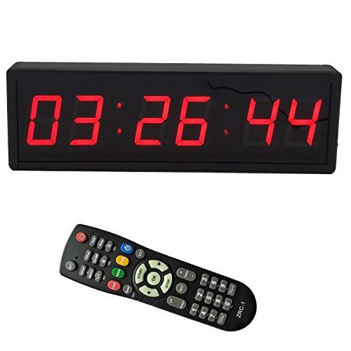 BTBSIGN LED Digital Countdown Wall Clock Fitness Timer Stopwatch for Gym 23inch Digital High