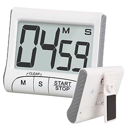 EEEKit Digital Kitchen Clock Timer Stopwatch Large LCD Display Digits Loud Alarm Magnetic Stand