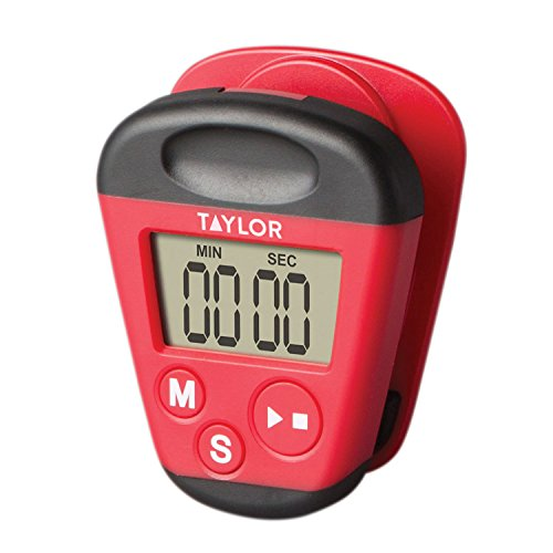 Taylor Kitchen Clip Digital Timer Red