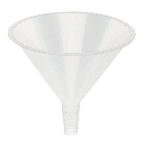 Zeroyoyo 150mm Wide-Mouth Plastic Clear Funnel for KitchenLaboratoryGarageCar Liquids