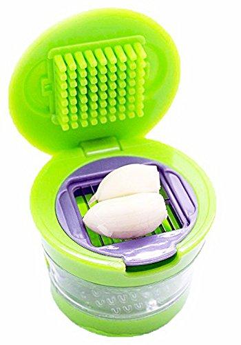 Petrista Multi Functional Home Kitchen Garlic Press Chopper Slicer Hand Presser Grinder Crusher Tool