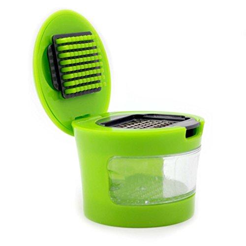 MMRM Garlic Presser Chopper Slicer Grinder Crusher Dicer Home Kitchen Gadget
