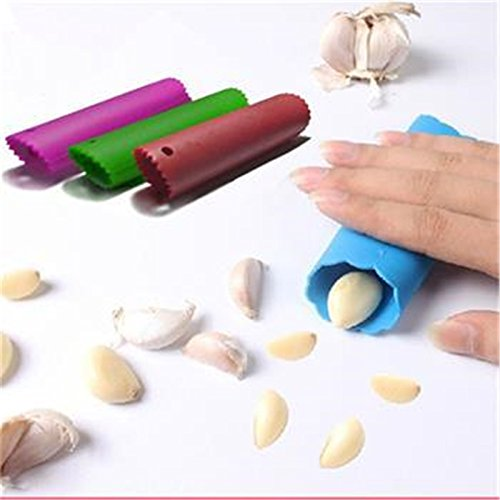 Creative Silicone Garlic Peeler Practical Utility Kitchen Gadget Garlic Stripper Tube Peeling Garlic Peeling