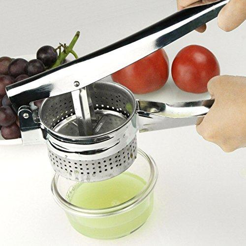 1pc Stainless Steel Manual Juicer Potato Masher Ricer Fruit Juice Presser