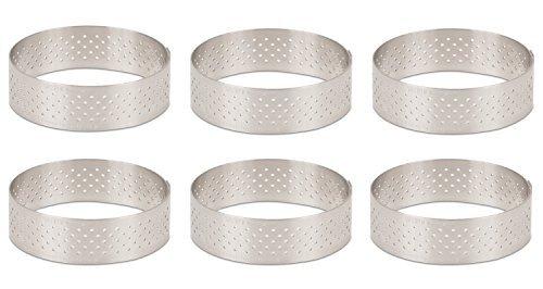 DeBuyer Valrhona Perforated Tart Ring - 225 inch Diameter Set of 6 units