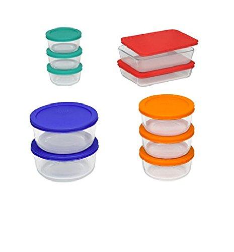 Pyrex 20-pc Storage Set with Color Lids